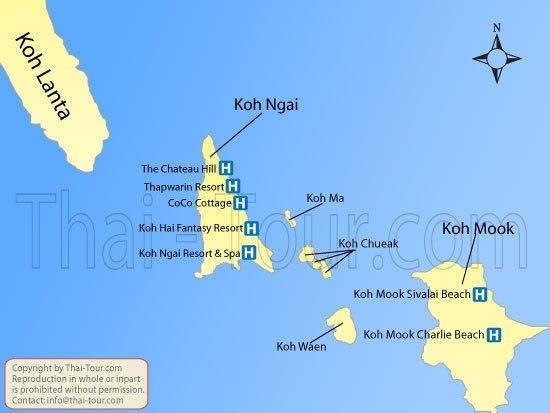 Map of Koh Mook